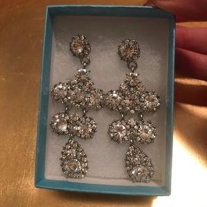 Crystal CZ Chandelier Earrings